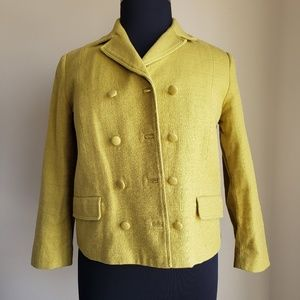 Talbots Double Breasted Mustard Color Blazer